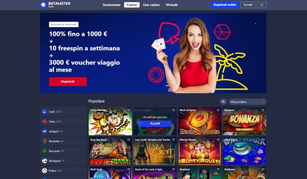 22bet sala giochi e slot online