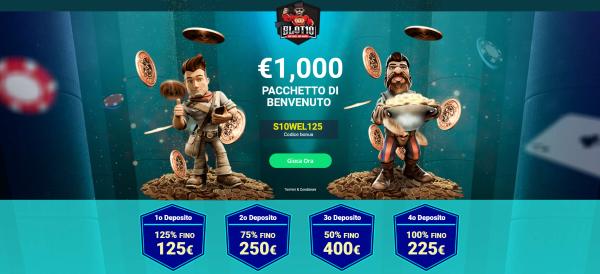 Slot non aams bonus 1000€